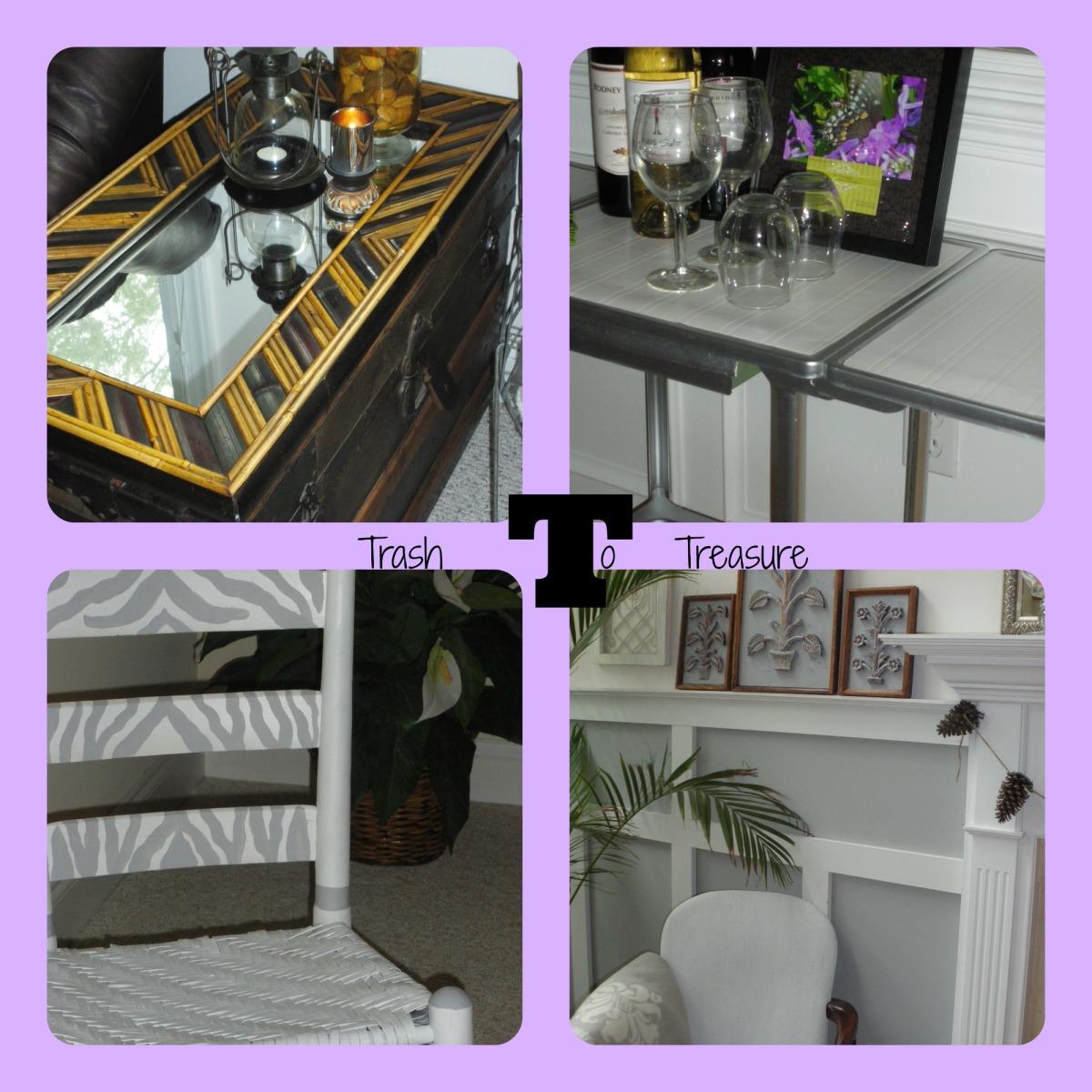 Trash To Treasures~ four yard sale items transformed!